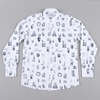 Soulland Juma Shirt W.All Over Print White W.Black