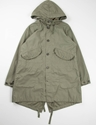 Olive Nyco Reversed Sateen Highland Parka Engineered Garments