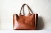 Brown Leather Bag Heirloom Tote Cognac Brown By Ribandhull