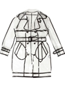 Wanda Nylon Transparent Pvc Trench Coat Browns farfetch com