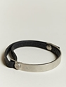 Balenciaga Men 27s Leather and Metal Bracelet 7c LN CC
