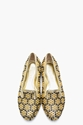 Alexander McQueen Metallic Gold Studded Honeycomb Flats for women 7c SSENSE