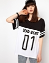 Lazy Oaf 7c Lazy Oaf Dead Beats Football T Shirt at ASOS