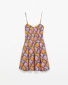 Box Pleat Printed Dress Trf Dresses Woman Zara United States