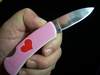 3 5 034 Lock Back Pocket Knife Pink Heart Valentine Gift Lady Love Fury 10402 Ebay