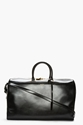 Saint Laurent Black Leather Bo Duffle Bag For Men Ssense