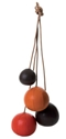 Portemanteau Clothes Rack 3 couleurs Chocolat 2f rouge 2f orange Eno