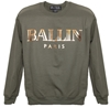 Military Green Ballin Sweatshirt With Gold Foil