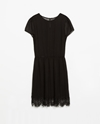 Dress With Lace Hem Trf Dresses Woman Zara United States