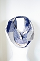 Snood Blue Plaid Scarf Infinity Navy Blue By Lepetitmonkey On Etsy