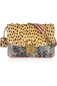 Marc Jacobs Polly Mini Glossed Elaphe And Leather Shoulder Bag Net A Porter.Com