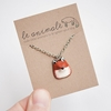 Le Red Fox Petite Necklace by leanimale on Etsy