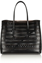 Alaia Laser Cut Leather Tote Net A Porter.Com