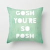 Gosh Posh Throw Pillow by Rachel Burbee 7c Society6