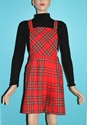 Plaid Jumper Dress By Junkkyard On Etsy