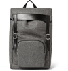 Saint Laurent Leather Trimmed Flannel Backpack Mr Porter