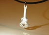 Sterling Silver Guitar Pendant Rocking Out With By Nicilaskin
