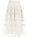 Ivory Satin Freya Ribbon Skirt 7c Temperley London 7c Avenue32