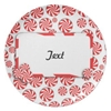 Peppermint Candy W Tag Plates Christmas Decorations Ideas