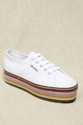 Urban Outfitters Superga X House Of Holland Multi Stripe Flatforms