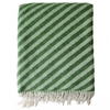 Straight Twill blanket 2c green Throws Decoration Finnish Design Shop