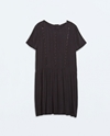 Buttoned Dress With Lace Details Trf New This Week Zara United States