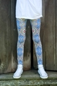 Tile print legging by Hexoplexo on Etsy