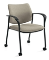 Global Sidero Arm Chair with Casters 6900C for Sale