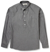 Raleigh Denim Cotton Chambray Half Placket Shirt Mr Porter