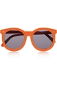 Finds Karen Walker Round Frame Acetate Sunglasses Net A Porter.Com