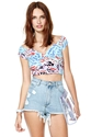 Nasty Gal Back Out Crop Top