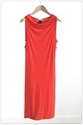 Elegant Double Pencil Dress Vermillion