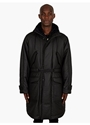 Men's Black Padded Hooded Parka