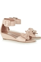 RED Valentino c2 a0 7c c2 a0Bow embellished leather wedge sandals c2 a0 7c c2 a0NET A PORTER COM