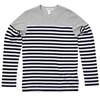 Comme des Garcons SHIRT Long Sleeve Border Stripe Tee Stripes 26 Grey