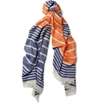 Maison Kitsun c3 a9 c2 a0Striped Lightweight Scarf c2 a0 7c c2 a0MR PORTER