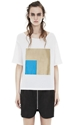 Acne Wonder Geometric White Shop Ready To Wear Accessories Shoes And Denim For Men And Women