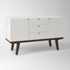 Dumont Media Console White West Elm