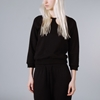 Peter Jensen Cut Out Collar Sweatshirt Black