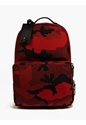 Men's Red Camouflage Canvas Backpack