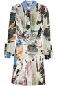 Printed Silk Georgette Dress Carven 60 Off The Outnet