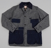 22FRANK 22 JACKET 2c GRAINED BLACK 2f INDIGO TWILL 3a 3a HICKOREE 27S