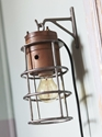antique industrial lighting cage lamp by PScriptum on Etsy