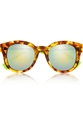 Fendi D Frame Acetate Mirrored Sunglasses Net A Porter.Com
