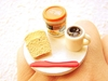 Breakfast Ring Bread Peanut Butter Coffee by SouZouCreations