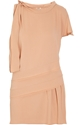 Miu Miu Tiered panel crepe dress 60 25 Off Now at THE OUTNET