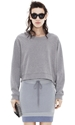 Acne Bird Z Fleece Grey Melange Shop Ready To Wear Accessories Shoes And Denim For Men And Women