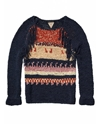Bohemian tape yarn sweater with fringing Sweaters Official Scotch 26 Soda Online Fashion 26 Apparel Shops