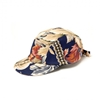 5 panels cap Navy Floral Canvas