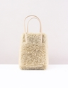 Y 27s by Yohji Yamamoto Fur Tote Ivory